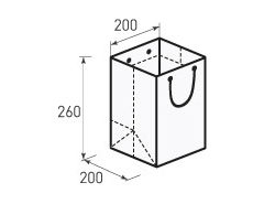 Вертикальный бумажный пакет В200x260x200