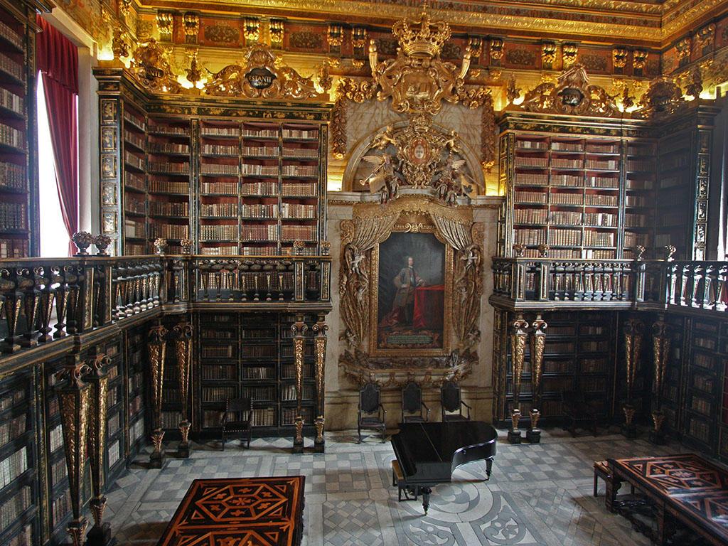 Библиотека Жуанина, Университет Коимбры. Португалия