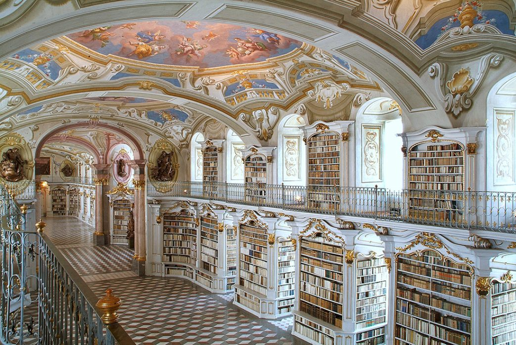 Библиотека бенедиктинского аббатства. Адмонт, Австрия