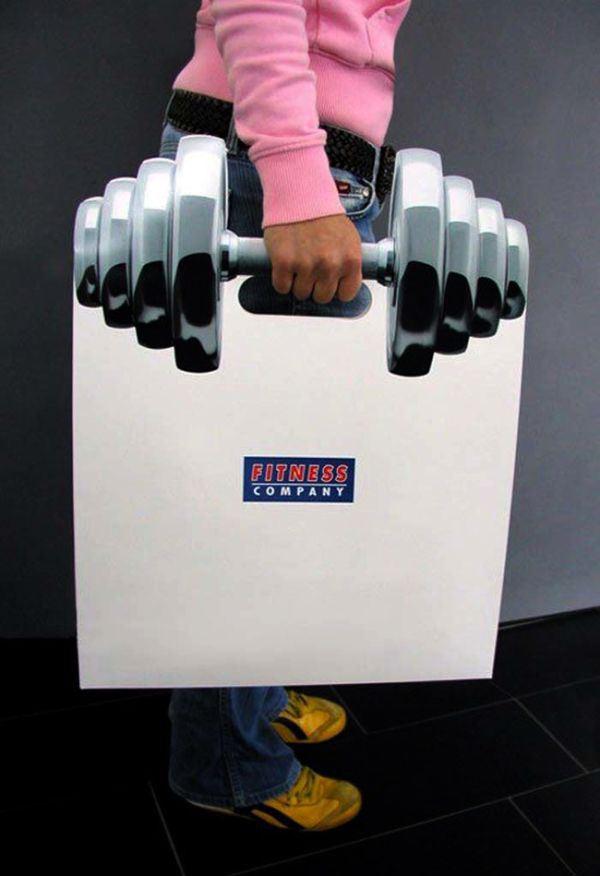 Бумажный пакет фитнесклуба