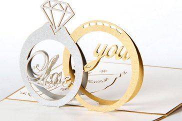 свадебная открытка-трансформер
