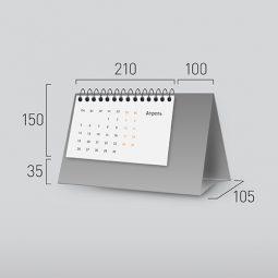Модель NG-4. Горизонтальный перекидной настольный календарь