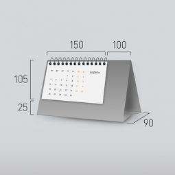 Модель NG-6. Горизонтальный перекидной настольный календарь