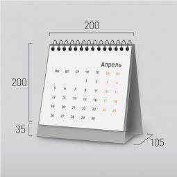 Модель NK-1. Квадратный перекидной настольный календарь