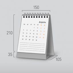 Модель NV-2. Вертикальный перекидной настольный календарь