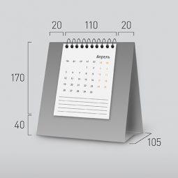 Модель NV-4. Вертикальный перекидной настольный календарь