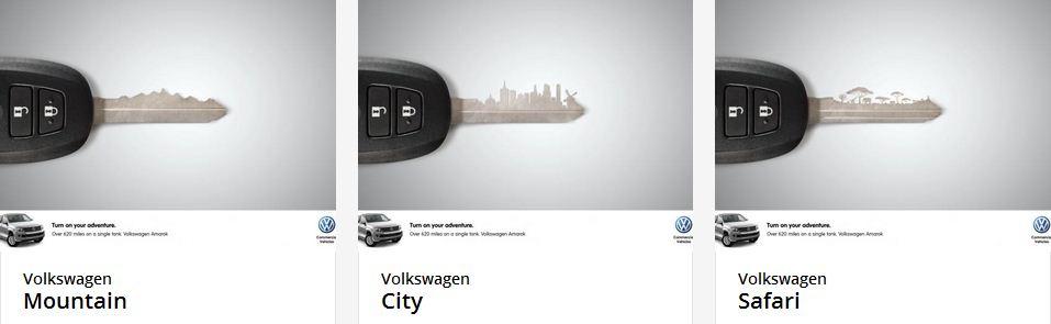 Серия плакатов для Volkswagen Amarok