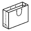Штамп для вырубки горизонтального бумажного пакета g 220-150-140. Привью 110x110 пикселов.