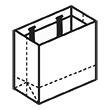 Штамп для вырубки горизонтального бумажного пакета g 230-200-115. Привью 110x110 пикселов.