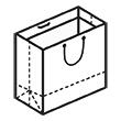 Штамп для вырубки горизонтального бумажного пакета g 230-200-116. Привью 110x110 пикселов.
