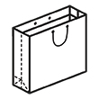Штамп для вырубки горизонтального бумажного пакета g 300-180-100. Привью 110x110 пикселов.