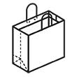 Штамп для вырубки горизонтального бумажного пакета g 300-250-120 . Привью 110x110 пикселов.