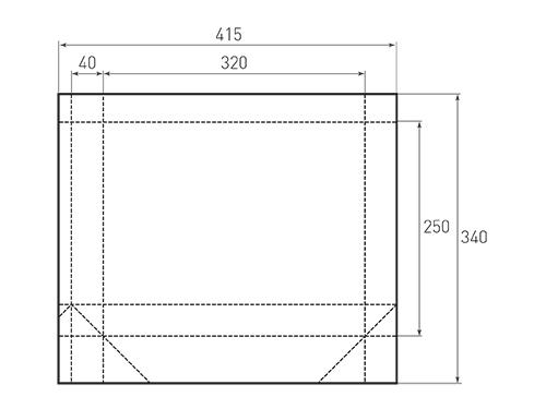 Штамп для вырубки горизонтального бумажного пакета g 320-250-80 (1 шт. на штампе). Привью 500x375 пикселов.
