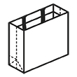 Штамп для вырубки горизонтального бумажного пакета g 330-260-150 (1 шт. на штампе). Привью 110x110 пикселов.