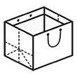 Штамп для вырубки горизонтального бумажного пакета g 330-260-220 (1 шт. на штампе). Привью 110x110 пикселов.