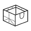 Штамп для вырубки горизонтального бумажного пакета g 340-290-340 (1 шт. на штампе). Привью 110x110 пикселов.
