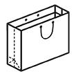 Штамп для вырубки горизонтального бумажного пакета g 350-250-170 (1 шт. на штампе). Привью 110x110 пикселов.