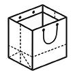 Штамп для вырубки горизонтального бумажного пакета g 350-320-240 (1 шт. на штампе). Привью 110x110 пикселов.