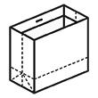 Штамп для вырубки горизонтального бумажного пакета g 356-300-150 (1 шт. на штампе). Привью 110x110 пикселов.