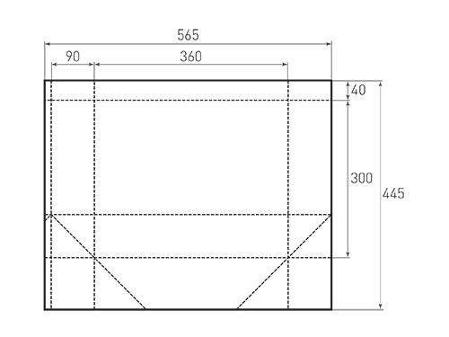 Штамп для вырубки горизонтального бумажного пакета g 360-300-180 (1 шт. на штампе). Привью 500x375 пикселов.