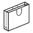 Штамп для вырубки горизонтального бумажного пакета g 365-255-80 (1 шт. на штампе). Привью 110x110 пикселов.