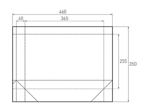 Штамп для вырубки горизонтального бумажного пакета g 365-255-80 (1 шт. на штампе). Привью 500x375 пикселов.