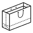 Штамп для вырубки горизонтального бумажного пакета g 400-290-220 (1 шт. на штампе). Привью 110x110 пикселов.
