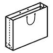 Штамп для вырубки горизонтального бумажного пакета g 430-310-120 (1 шт. на штампе). Привью 110x110 пикселов.