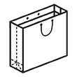 Штамп для вырубки горизонтального бумажного пакета g 440-400-150 (1 шт. на штампе). Привью 110x110 пикселов.