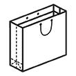 Штамп для вырубки горизонтального бумажного пакета g 450-330-200 (1 шт. на штампе). Привью 110x110 пикселов.