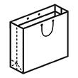 Штамп для вырубки горизонтального бумажного пакета g 450-350-150 (1 шт. на штампе). Привью 110x110 пикселов.