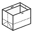 Штамп для вырубки горизонтального бумажного пакета g 500-400-330 (1 шт. на штампе). Привью 110x110 пикселов.