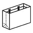 Штамп для вырубки горизонтального бумажного пакета g 600-400-230 (1 шт. на штампе). Привью 110x110 пикселов.