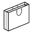 Штамп для вырубки горизонтального бумажного пакета g 600-500-150 (1 шт. на штампе). Привью 110x110 пикселов.