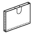 Штамп для вырубки горизонтального бумажного пакета g 630-450-50 (1 шт. на штампе). Привью 110x110 пикселов.