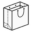 Штамп для вырубки квадратного бумажного пакета k 200-200-100. Привью 110x110 пикселов.