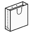 Штамп для вырубки квадратного бумажного пакета k 250-250-70. Привью 110x110 пикселов.