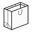 Штамп для вырубки квадратного бумажного пакета k 280-280-180. Привью 110x110 пикселов.