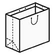 Штамп для вырубки квадратного бумажного пакета k 350-350-240. Привью 110x110 пикселов.