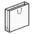 Штамп для вырубки квадратного бумажного пакета k 400-400-180. Привью 110x110 пикселов.
