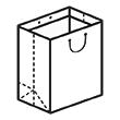 Штамп для вырубки вертикального бумажного пакета v 100-120-80 (1 шт. на штампе). Привью 110x110 пикселов.