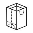 Штамп для вырубки вертикального бумажного пакета под бутылку v 140-180-140. Привью 110x110 пикселов.