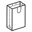 Штамп для вырубки вертикального бумажного пакета v 170-260-60 (1 шт. на штампе). Привью 110x110 пикселов.