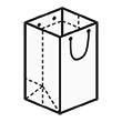 Штамп для вырубки вертикального бумажного пакета под бутылку v 180-250-180. Привью 110x110 пикселов.