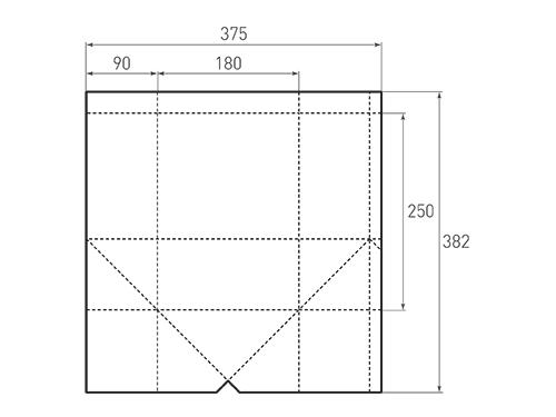 Штамп для вырубки вертикального бумажного пакета под бутылку v 180-250-180. Привью 500x375 пикселов.