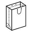 Штамп для вырубки вертикального бумажного пакета v 200-250-100 (1 шт. на штампе). Привью 110x110 пикселов.