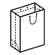 Штамп для вырубки вертикального бумажного пакета v 200-250-80 (1 шт. на штампе). Привью 110x110 пикселов.