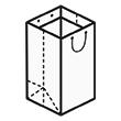 Штамп для вырубки вертикального бумажного пакета под бутылку v 200-260-200. Привью 110x110 пикселов.