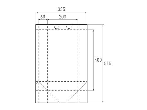 Штамп для вырубки вертикального бумажного пакета v 200-400-120 (1 шт. на штампе). Привью 500x375 пикселов.