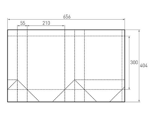 Штамп для вырубки вертикального бумажного пакета v 210-300-110 (1 шт. на штампе). Привью 500x375 пикселов.